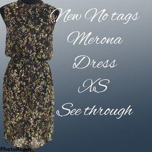 Marina No Sleeve Dress XS